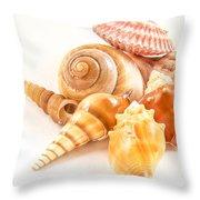 Bunch Of Shells Throw Pillow by Jean Noren