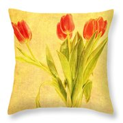 Bunch Of Tulips Throw Pillow