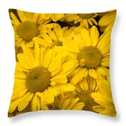 Bunch Of Yellow Daisies Throw Pillow
