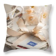 Bundle Of Love Letters Throw Pillow