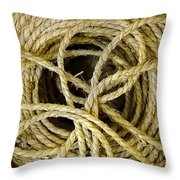 Bundle Of Old Straw Rope Throw Pillow