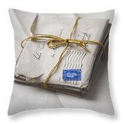Bundle Of Vintage Letters Throw Pillow