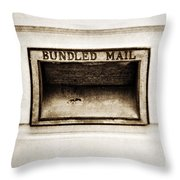 Bundled Mail Throw Pillow