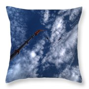 Bungee Jumper Hdr Throw Pillow