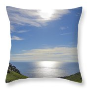 Bunglass Donegal Ireland - Seascape Throw Pillow