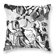 Bunker Hill: Cartoon, 1775 Throw Pillow
