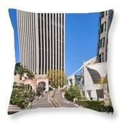 Bunker Hill Steps Los Angeles Throw Pillow