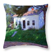 Bunker's Roadside Cottage Throw Pillow