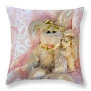 Bunny Lace Throw Pillow