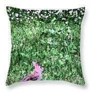 Bunny Rabbit Digital Paint Throw Pillow