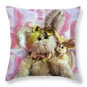 Bunny Rose Throw Pillow