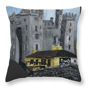 Bunratty Castle And Durty Nellys Throw Pillow