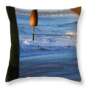 Buoy 1 Throw Pillow by Michael Mooney
