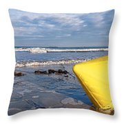 Buoy At Low Tide Throw Pillow