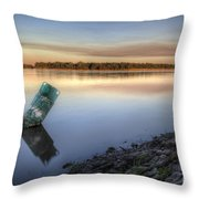 Buoy On The Bank Throw Pillow
