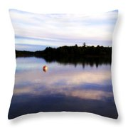 Buoy On The Torch Bayou Throw Pillow