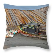 Buoy Spill Throw Pillow