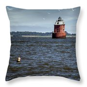 Buoy What A Lighthouse Throw Pillow