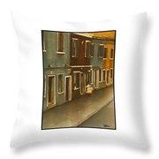 Burano Italy   No 18 Throw Pillow