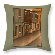 Burano Italy   No 2 Throw Pillow