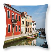 Burano, Venice Throw Pillow