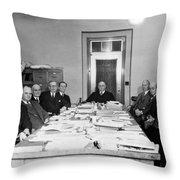 Bureau Of Navigation Meeting Throw Pillow