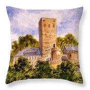 Burg Blankenstein Hattingen Germany Throw Pillow