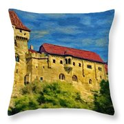 Burg Liechtenstein Throw Pillow