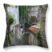 Burgundy Alley  Throw Pillow