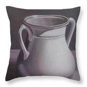 Burgundy Amphora Throw Pillow