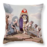 Burial, Etched By The Artist, Published Throw Pillow