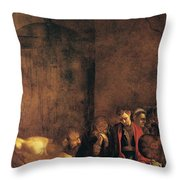Burial Of St Lucy Throw Pillow by Caravaggio