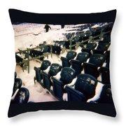 Buried Gillette Stadium Seats Throw Pillow
