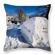 Buried In Snow Throw Pillow