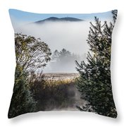 Burke Above The Fog Throw Pillow