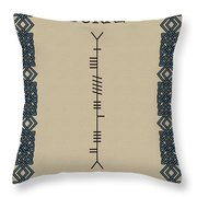 Burke Written In Ogham Throw Pillow