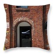 Burlington North Carolina - Brick Entrance Throw Pillow