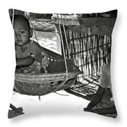 Burmese Mother And Son Throw Pillow by RicardMN Photography