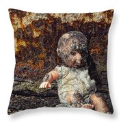 Burned And Broken Throw Pillow
