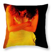 Burned Throw Pillow