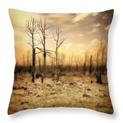 Burned Out Forest Throw Pillow