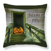 Burned Out - Halloween Throw Pillow