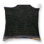 Burney Institute Historical Sign Throw Pillow