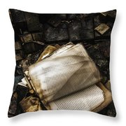 Burning Books Throw Pillow