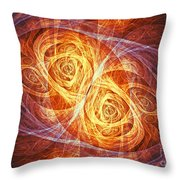 Burning Butterfly Throw Pillow