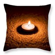 Burning Candle Throw Pillow