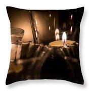 Burning Candles Throw Pillow