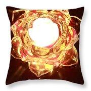 Burning Flower Throw Pillow