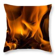 Burning Holly Throw Pillow