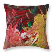 Burning Into The Darkness Throw Pillow